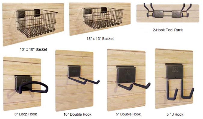 Slat Wall Storage Organizers Amp Accessories Slide Lok Of